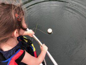 Tilly on boat